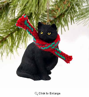 Black Cat Tiny One Christmas Ornament