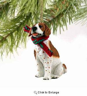 Pointer Tiny One Christmas Ornament Brown-White