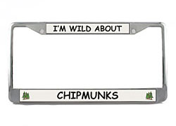 Chipmunk License Plate Frame