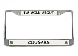 Cougar License Plate Frame