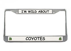 Coyote License Plate Frame