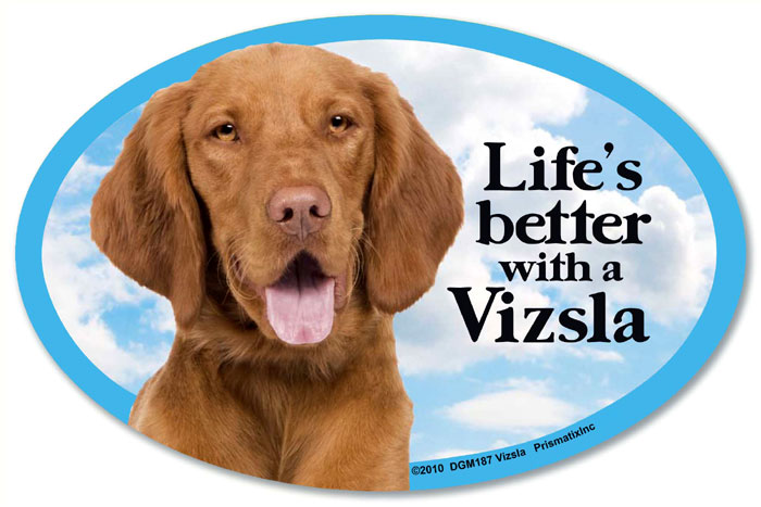 Vizsla Car Magnet - Life's Better