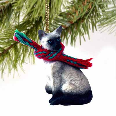 Siamese Cat Tiny One Christmas Ornament