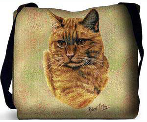 Tabby Cat Tote Bag (Red)