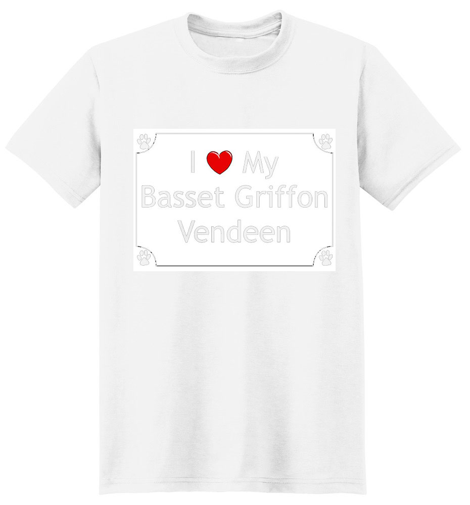 Basset Griffon Vendeen T-Shirt - I love my