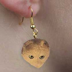 Scottish Fold Cat Authentic Earrings