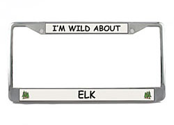 Elk License Plate Frame