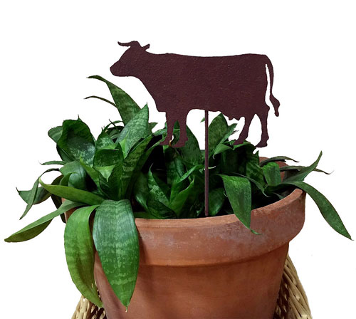 Cow Plant Stake