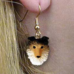 Shetland Sheepdog Authentic Earrings