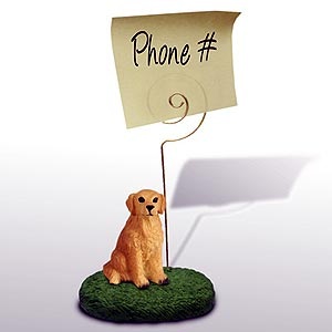 Golden Retriever Note Holder