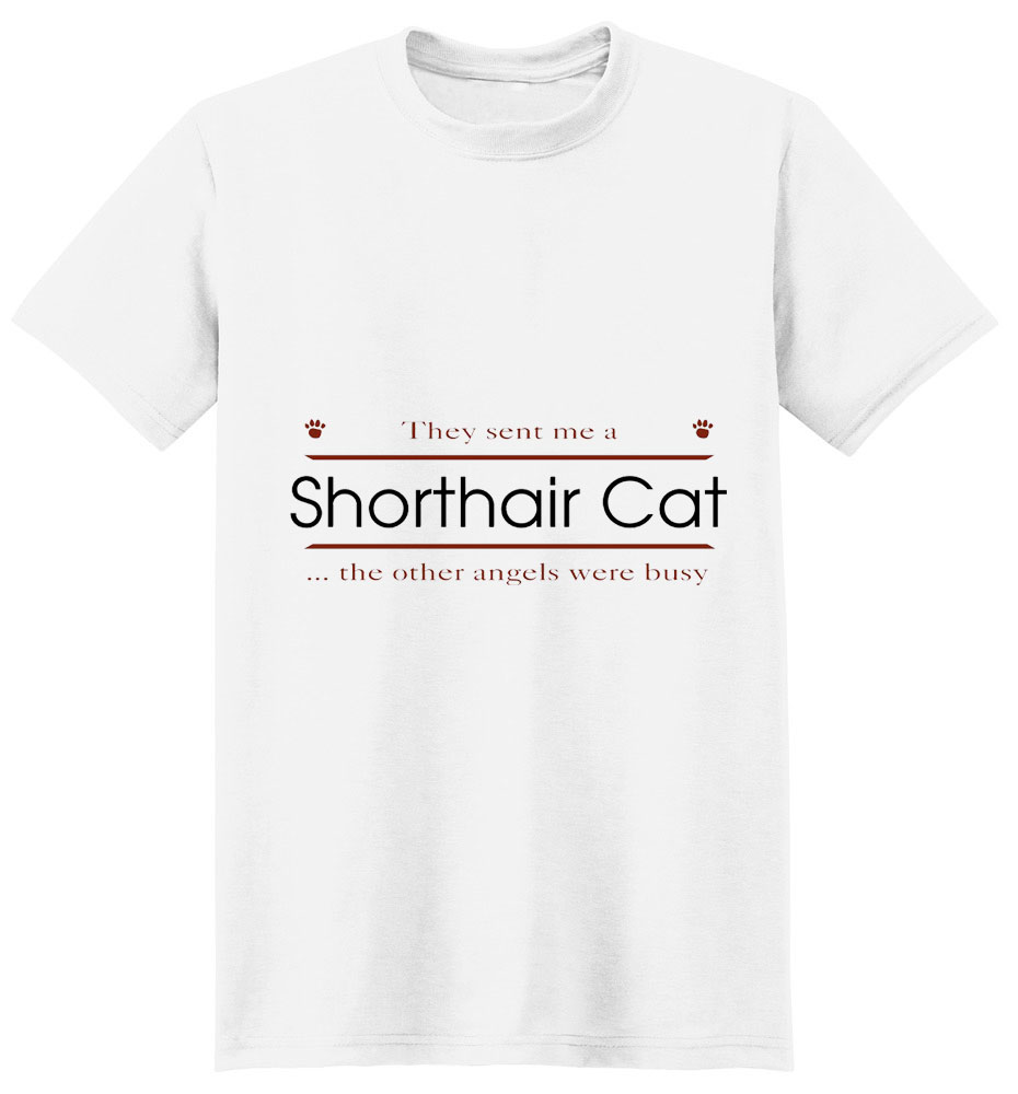 Shorthair Cat T-Shirt - Other Angels
