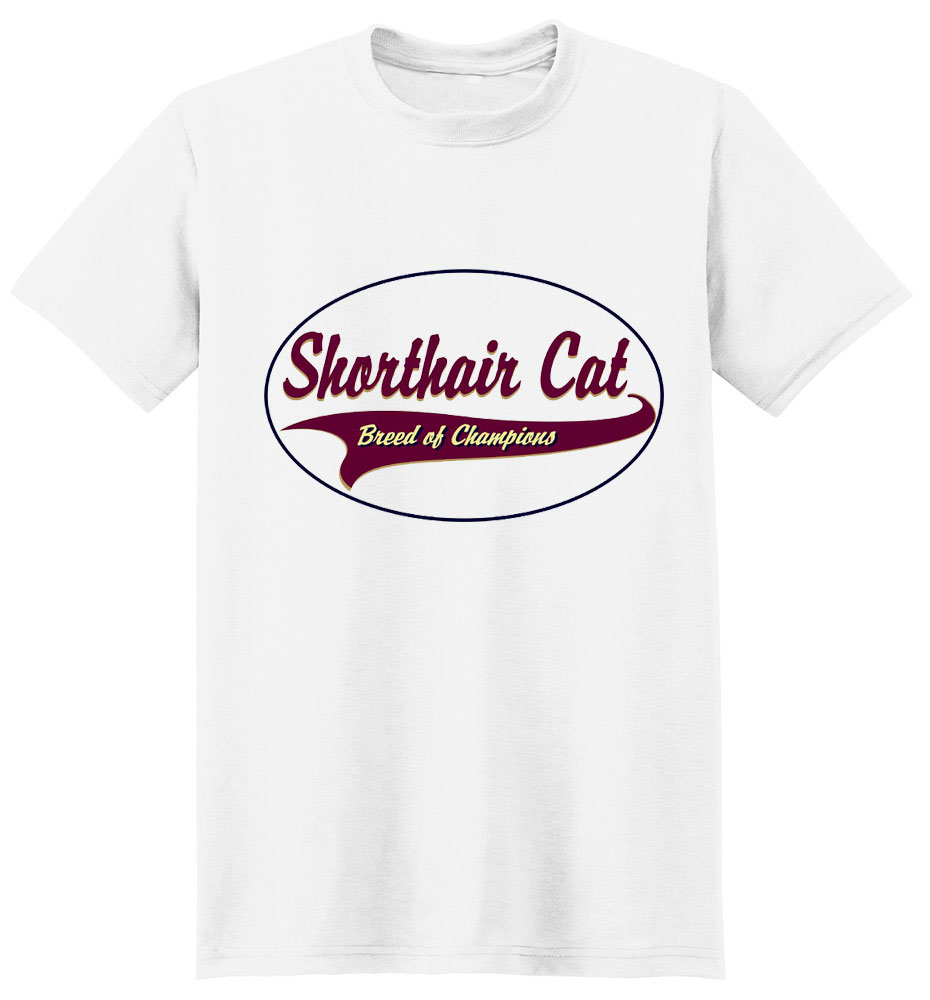 Shorthair Cat T-Shirt - Breed of Champions