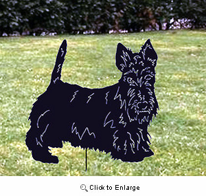 Scottish Terrier Garden Stake