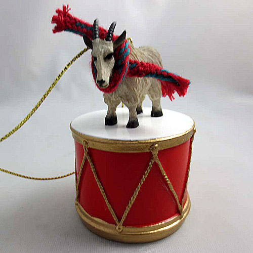 Little Drummer Mountain Goat Christmas Ornament