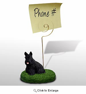 Scottish Terrier Note Holder