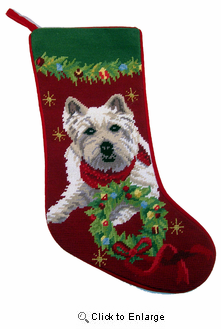West Highland Terrier Christmas Stocking