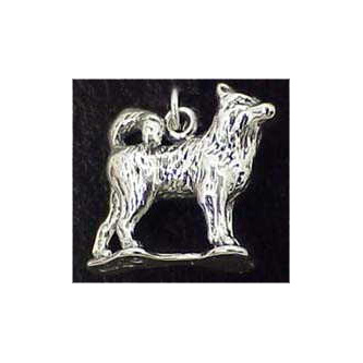 Siberian Husky Sterling Silver Charm