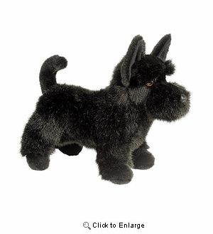 "Scottish Terrier Plush Stuffed Animal "" Winslow""  12"""