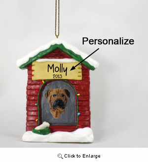 Bullmastiff Personalized Dog House Christmas Ornament