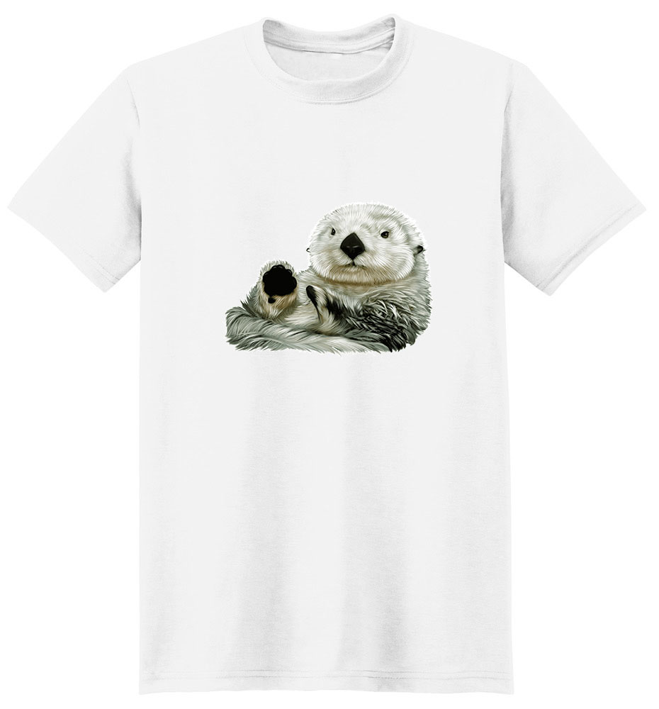 Sea Otter T Shirt - Impressive Portrait