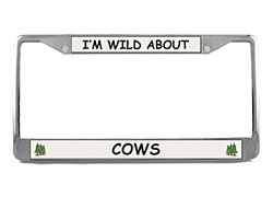 Cow License Plate Frame