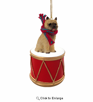 Little Drummer Cairn Terrier Christmas Ornament