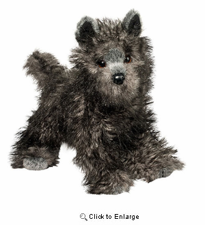 "Cairn Terrier Plush Stuffed Animal "" Hazel"" 16"""