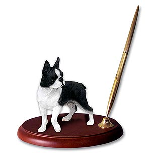 Boston Terrier Pen Holder