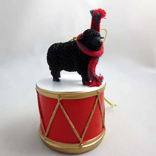 Little Drummer Black Sheep Christmas Ornament