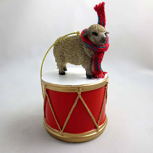 Little Drummer White Sheep Christmas Ornament