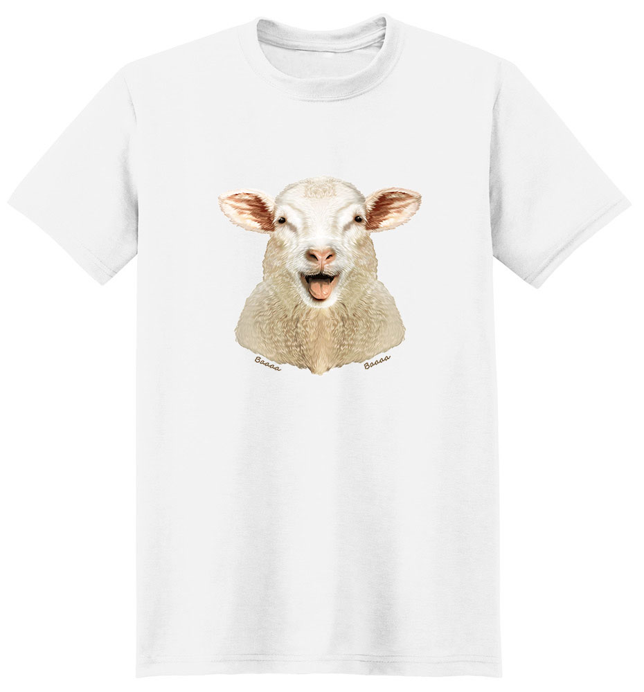 Sheep T Shirt - Impressive Portrait