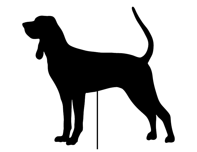 Coonhound Garden Stake