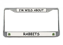 Rabbit License Plate Frame