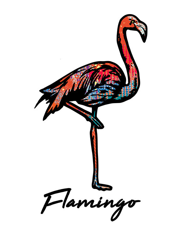 Flamingo T Shirt Colorful Abstract