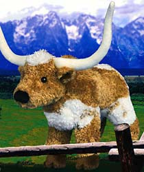 Longhorn Steer Plush Stuffed Animal