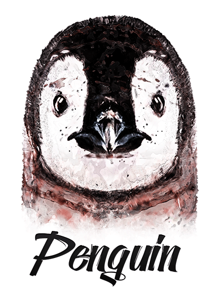 Penguin T-Shirt - Vivid Colors