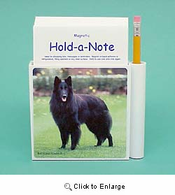 Belgian Sheepdog Hold-a-Note