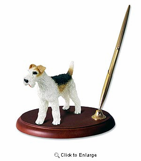 Fox Terrier Pen Holder (Wire Haired)