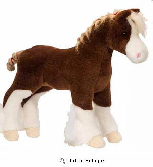 """Macclay the Clydesdale Plush Stuffed Animal 15"""""""