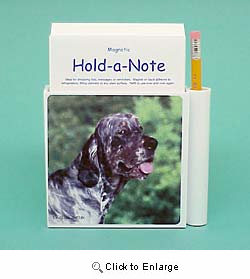 English Setter Hold-a-Note
