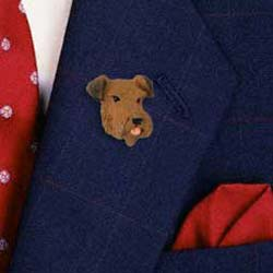 Airedale Terrier Pin Hand Painted Resin
