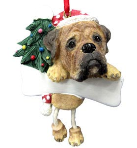 Bullmastiff Christmas Tree Ornament - Personalize
