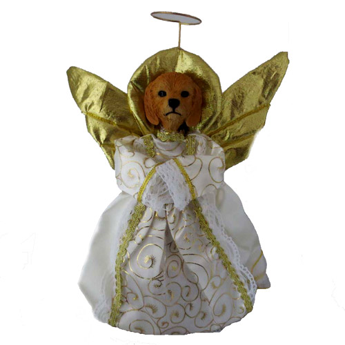 Small Angel Christmas Tree Topper: Goldendoodle Angel Christmas Tree Topper At Animalden.com