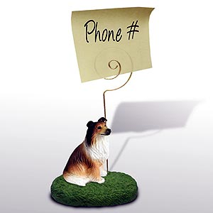Collie Note Holder