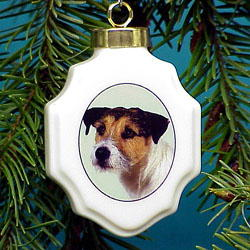 Jack Russell Terrier Christmas Ornament Porcelain from ...