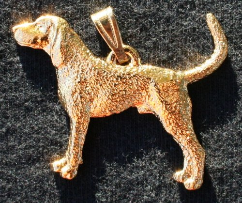 Coonhound 24K Gold Plated Pendant