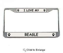 Beagle License Plate Frame