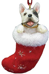 French Bulldog Christmas Stocking Ornament