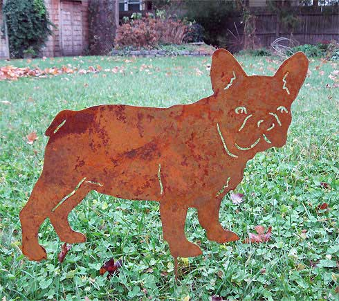 French Bulldog Garden Stake