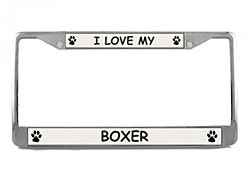 Boxer License Plate Frame